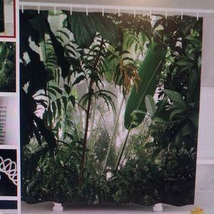 Shower Curtain Tropical Jungle Print